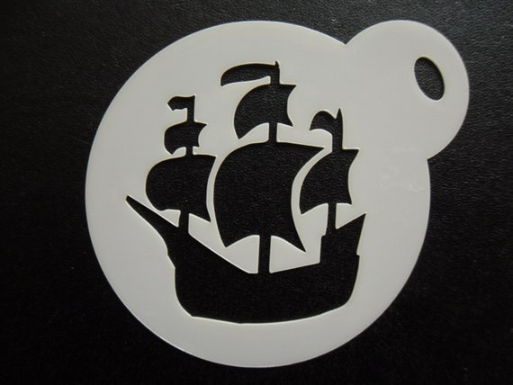 cookie craft /& face painting stencil 60mm swan image design cake