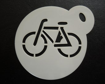 Unique bespoke new 60mm bicycle cookie, craft & face painting stencil
