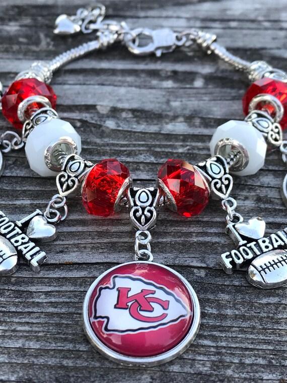 NFL Kansas City Chiefs Charm Chain Bracelets