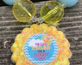 Necklaces - Chunky bead necklaces - Sunshine - Sunshine necklace - Sunshine jewelry - Yellow necklace - I've Got Sunshine - Summer jewelry