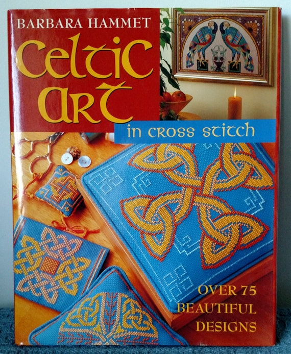 Arte celta en punto de Cruz libro de tapa dura por Barbara | Etsy