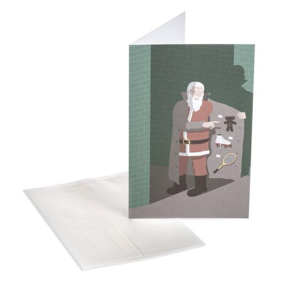 SANTA'S TOYS. Funny Christmas card. Santa's Toys. For kids.