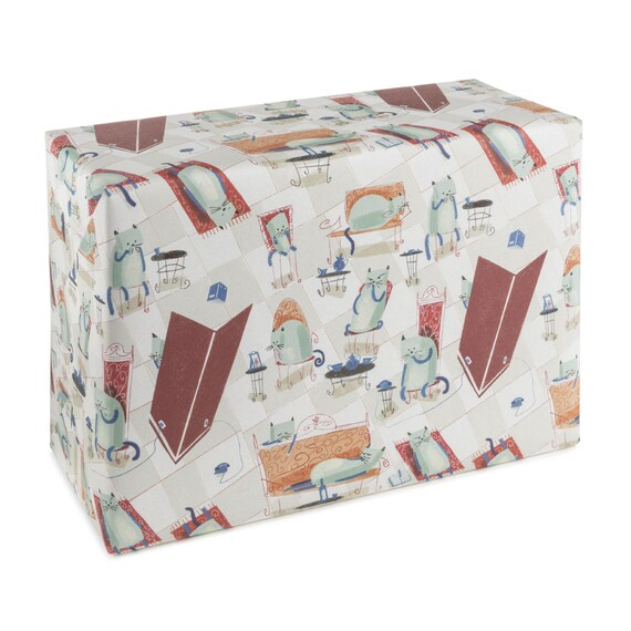 CAT LIFE. Cats wrapping paper. Funny gift wrap. Cat party. For animal lovers. For her. For him.
