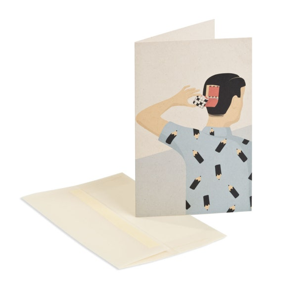 PUZZLE SOLVING. Multipurpose art card. For puzzles lovers. For illustration lovers.