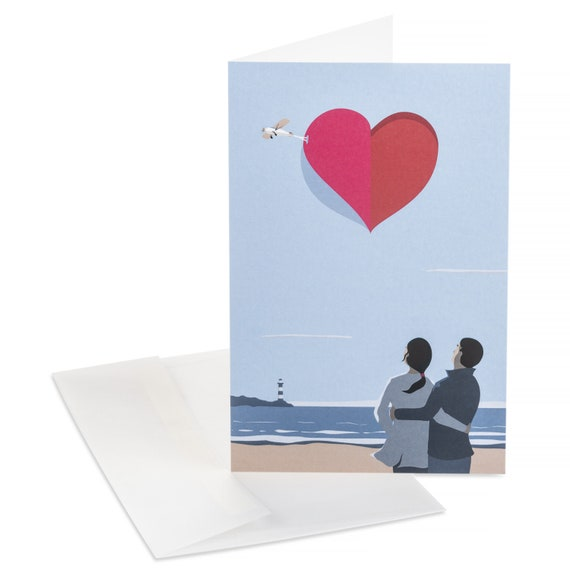 OPEN YOUR HEART Romantic couple love card. Valentines message. Open your heart to me