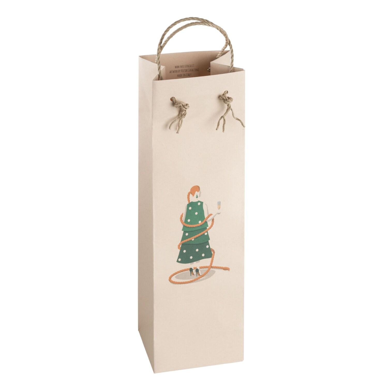 LADY TREE BAG. Stylish bottle bag. Holiday party. New Year\'s Eve ...