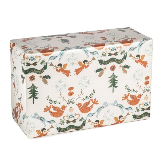 JOY to THE WORLD. Christmas wrapping paper. Joy To The World. Singing angels. Gifts for children, friends, family