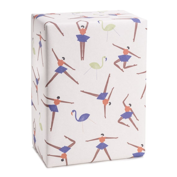 DANCE DANCE DANCE! Wrapping paper. Dancers. Minimalist style. For dance lovers. For girlfriend, sister