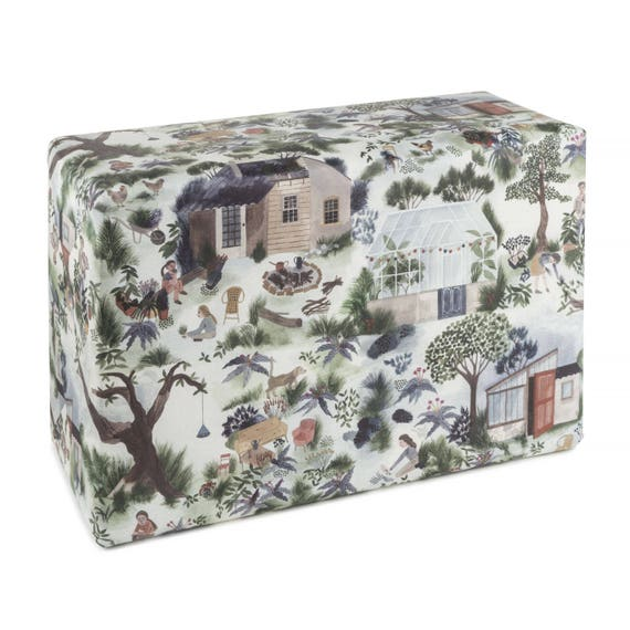 HOUSE in THE COUNTRY. Floral wrapping paper. House in the country. For gardening lovers. For her. For him.