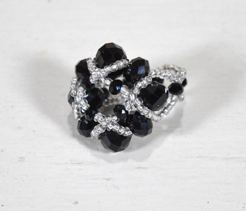 Handwoven jewelry Handmade jewelry Earrings bracelet and ring Handmade earrings Handmade necklace Set of 3 Wedding jewelry