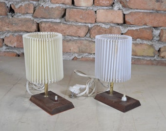 Desk lamp - Pair desk lamps - Bedroom lamp - Wooden lamp -  Bedside lamp -  Table lamp - Reading lamp - Office lamp - Bedroom lamp shade