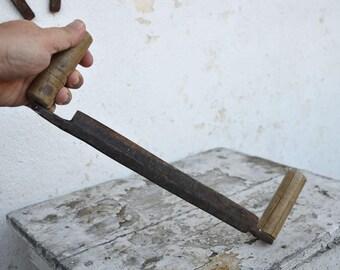 Wood Peeler - Vintage Peeler - Vintage Pliers - Hand Forged Peeler - Carpenter Tool - Farmhouse Peeler - Tree Bark Remover - Sharp Peeling