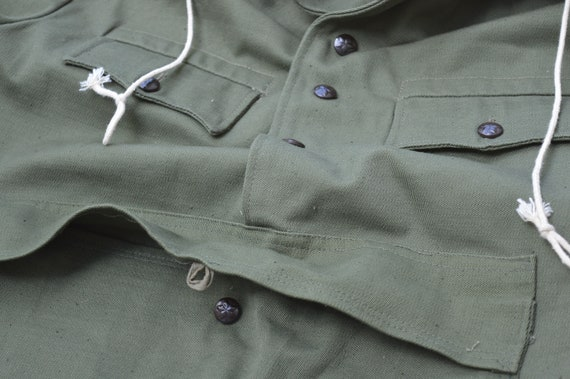 Vintage anorak- Anorak green canvas- Military styl