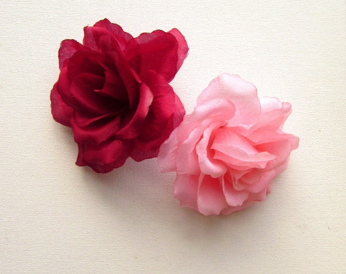 5 Artificial roses  Artificial fabric flowers  Large millinery flowers  Large fabric roses  Large faux silk roses Racing hat fashion 2018