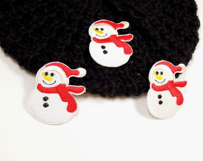 Snowman iron on patch,  Winter iron on snowman applique, Christmas iron on patch, Snowman applique, Backpack iron on patch, Iron on patch