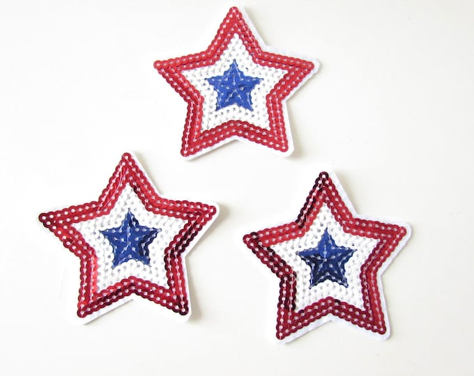 Star iron patch, Iron on Patches, Sequin star iron on applique, Glitter iron patch, T-Shirt iron on patches, Iron on patch