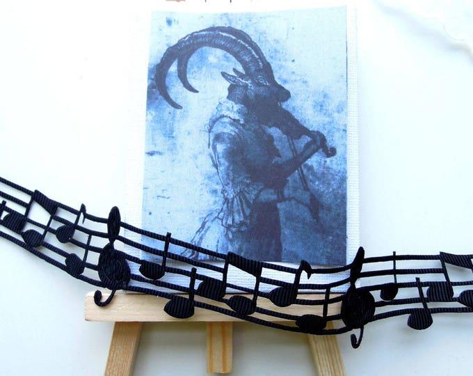 4 YARDS Music note ribbon, Black music notes musical ribbon, Christmas music note ribbon, Musical ribbon