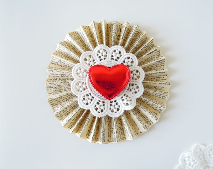 5 White cotton doilies 6 cm, Cotton lace flat doilies, White lace doilies appliques, Flower doilies, White broderie anglaise doilies