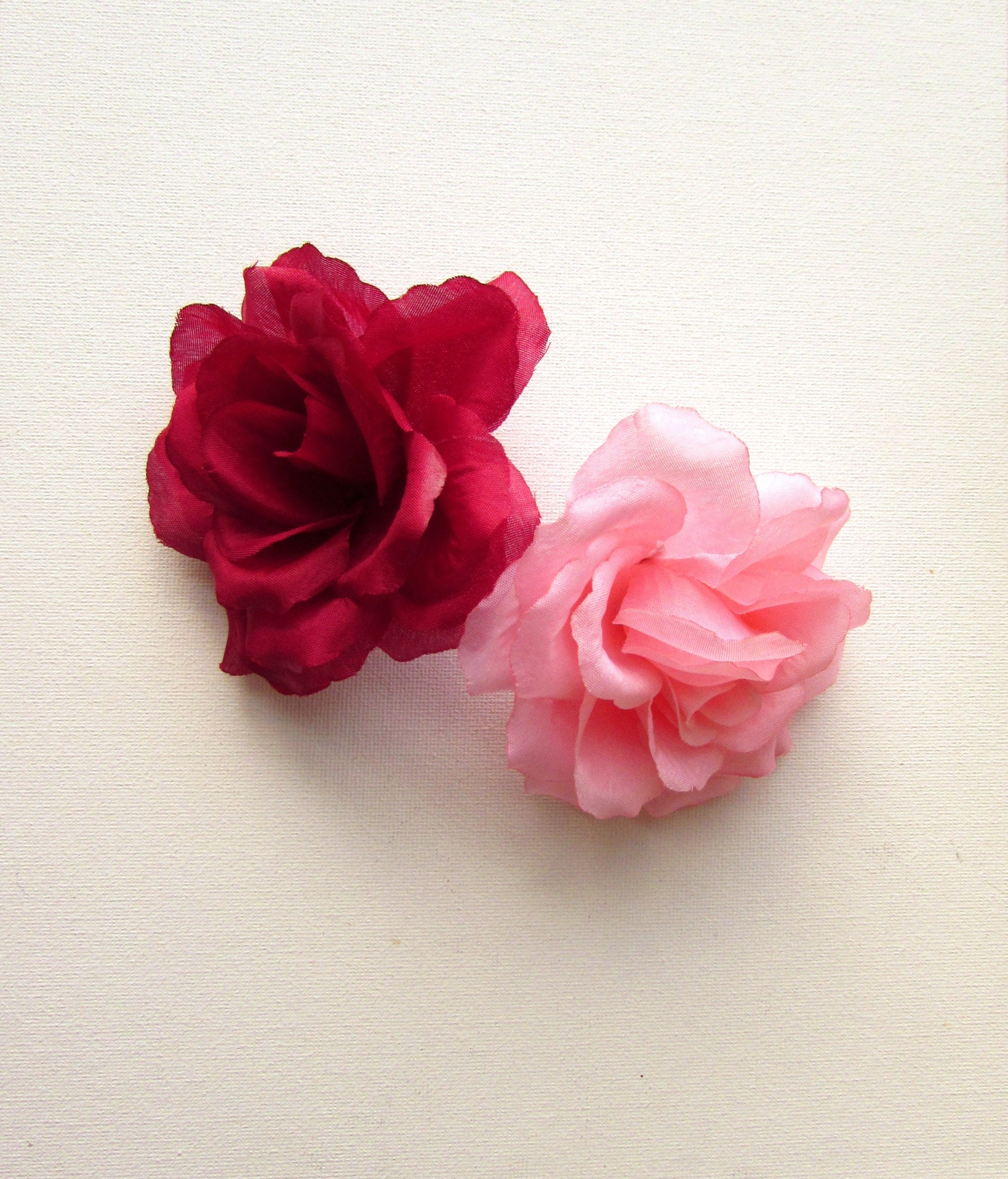 5 Artificial Roses Artificial Fabric Flowers Large Millinery Flowers