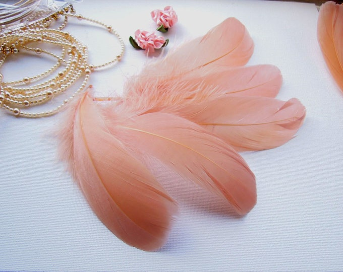 10 Natural caramel color feathers 5-7 inch - Cinamon colour quills -  Mocha brown feathers - Natural feathers - Craft feathers