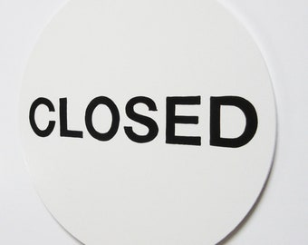 The Pure White Open/Closed Sign/Open Closed/Hand Painted Open Closed/Business Open Closed/Original Open Closed/Classic Open Closed