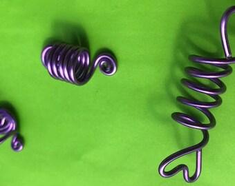 Hair Jewelry for Braids, Twists, Locs, Dreadlocks -- Three Piece Set