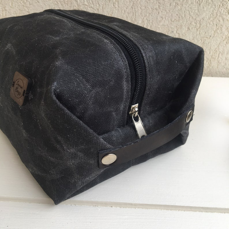 Toiletry bag for men mens dopp kit waxed canvas toiletry bag  5deb23dbbb12d