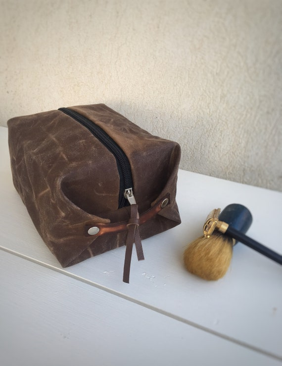 Dopp kit for men waxed canvas toiletry bag  b9c8239b04894