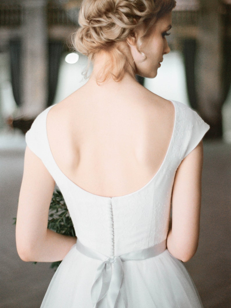 Wedding dress UDA // Boho cap sleeve wedding gown low back image 0