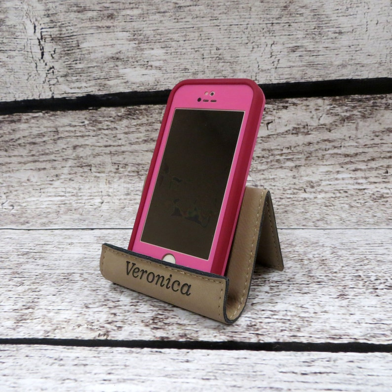 iPhone Stand Personalized Cell Phone Holder Smart Phone image 0
