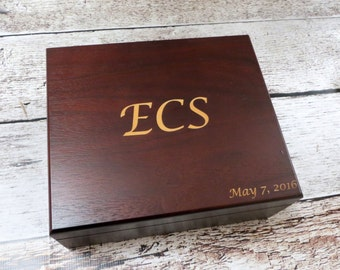 Personalized Keepsake Box - Graduation - Father's Day - Groom Gift - Wedding - Birthday - Anniversary - Groomsman - Gifts for Men - HUsband