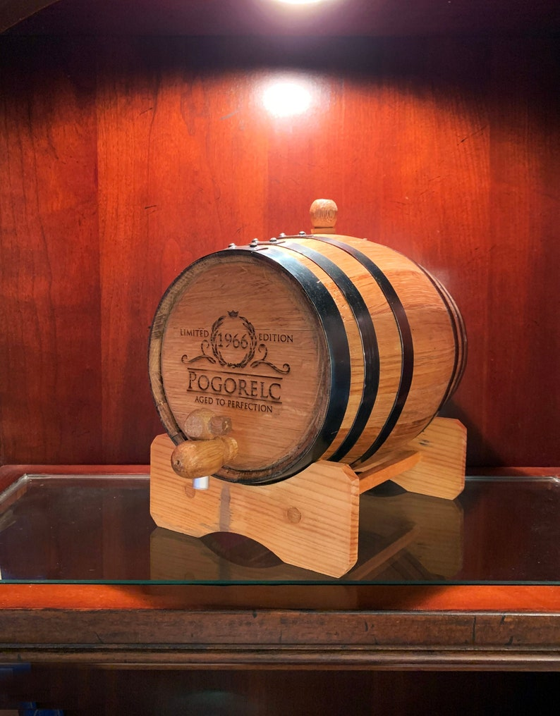 Personalized Oak Whiskey Barrel,