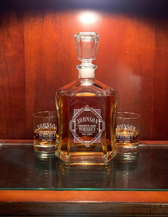 Decantador de Whisky personalizado inauguraci/ón de la casa boda tama/ño 700ml parejas mujeres Gran regalo para hombres
