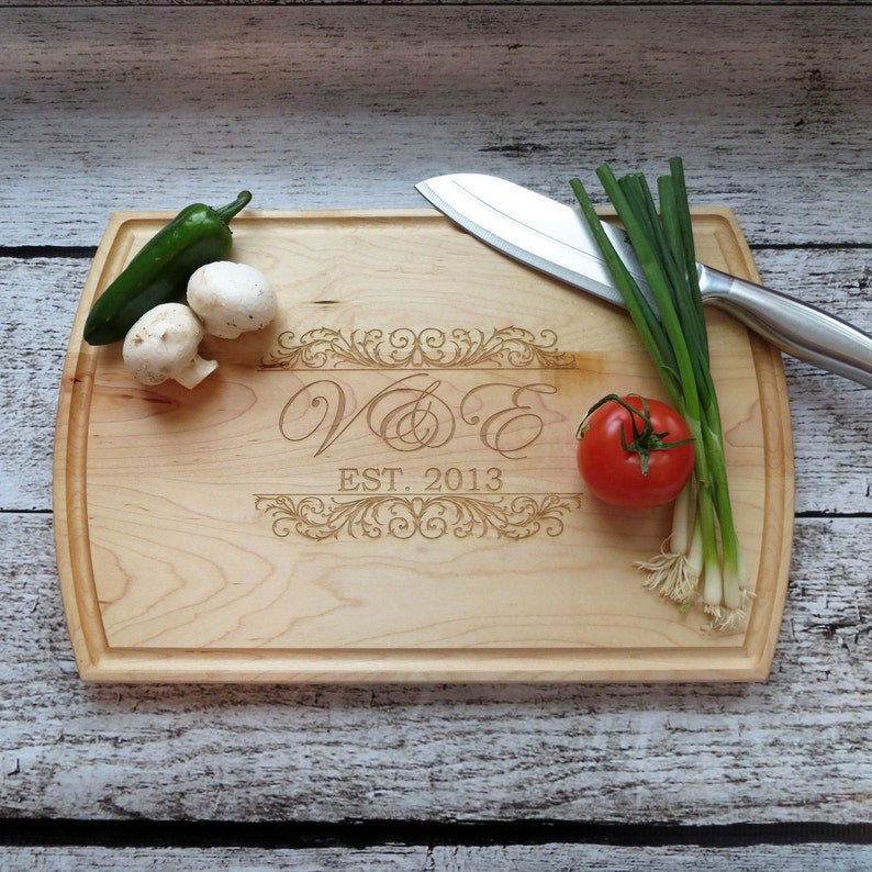 Custom Wood Cutting Board  Personalized  House-Warming  image 0