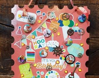 Hoo Ray Peach Birthday Stamp (PC51)