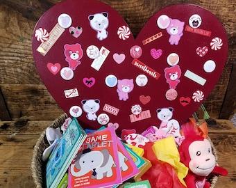 Loving Puppies Valentines Day Basket