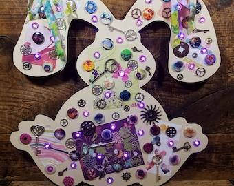 Purple & Cream Steampunk Bunny