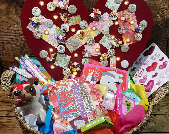 Music Notes Valentines Basket
