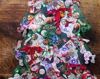 Red Green & White Christmas Tree
