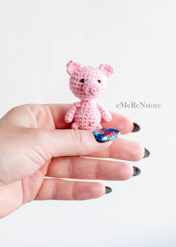 Cute Amigurumi Pig Cute Little Toy Stuffed Animal Etsy