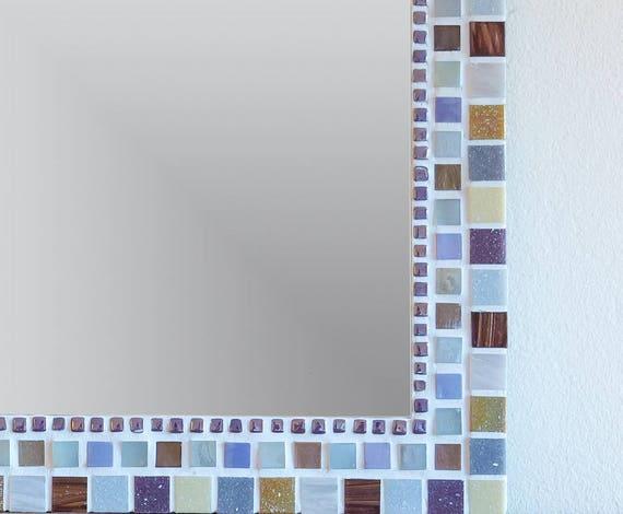 Mosaik Wandspiegel In Grau Lila Braun Gold Elfenbein Und | Etsy