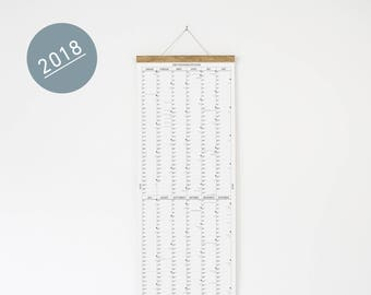 The long wall calendar 2018 with poster
