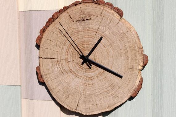Extreem grote houten klok oude stomp klok natuurlijke Wandklok door | Etsy @NE09