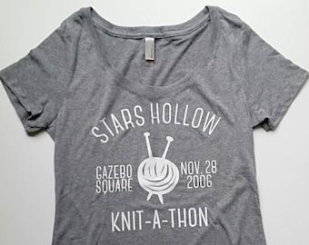 Gilmore Girls Stars Hollow Knit-A-Thon Tee Tshirt