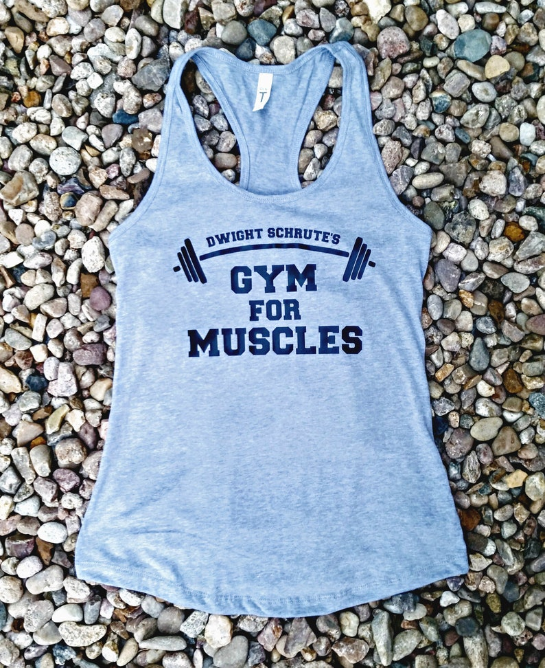 f4f09922 The Office Dwight Schrute's Gym for Muscles Ladies Tank | Etsy