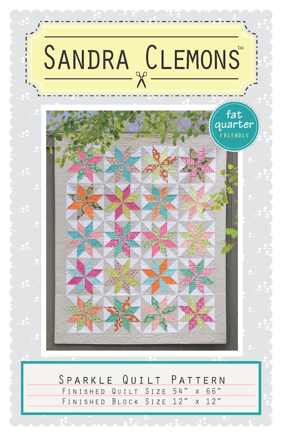 Items Similar To Sparkle Quilt Pattern On Etsy