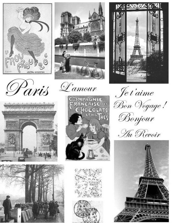 Unmounted rubber stamps Parisian Chic