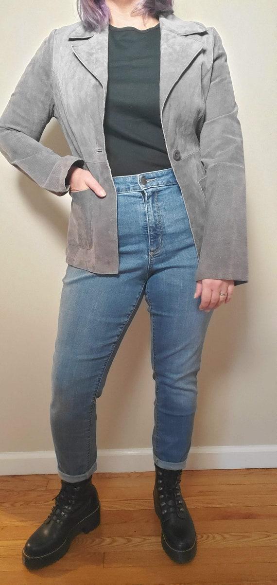 Grey Vintage Leather Jacket