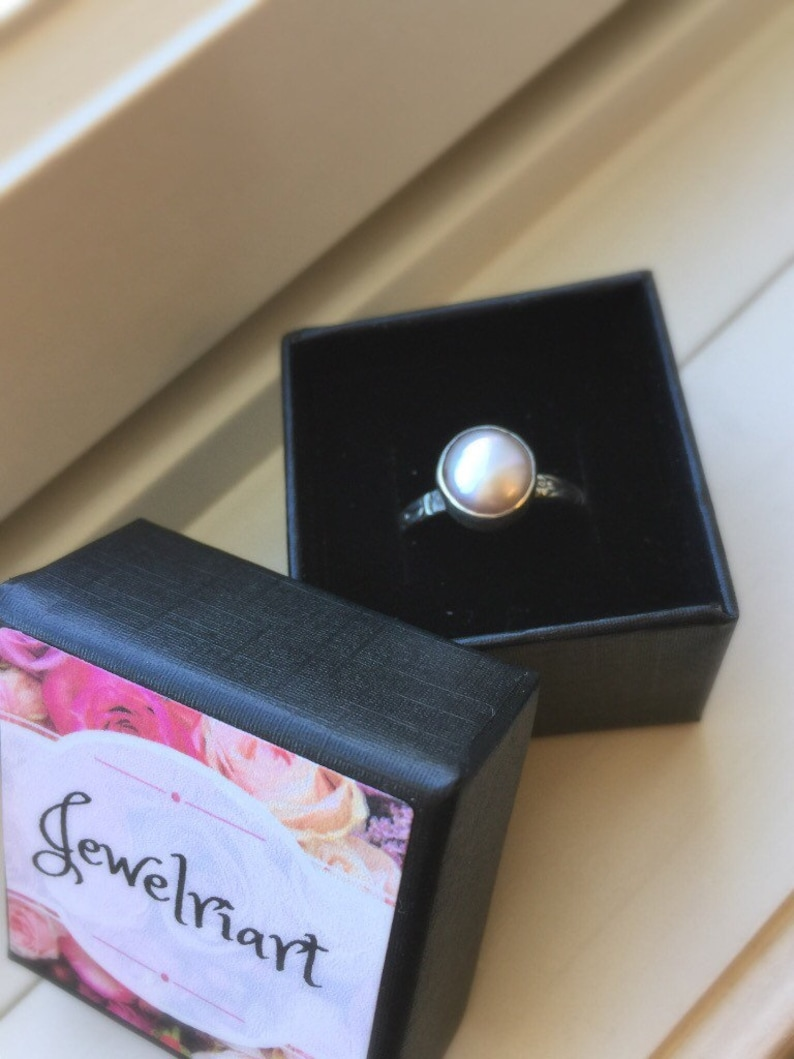Blush Gold Pearl RingPink Pearl RingSolitare Pearl RingBlush Pearl Sterling Silver Statement Ring.Baroque Pearl RingJune/'s Birthstone