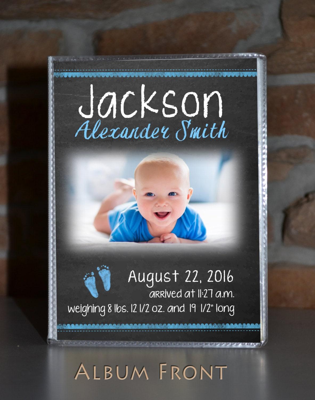 baby boy photo album brag book 4x6 personalized holds 48